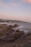 Mist over rocks in Laguna Beach Stock Image