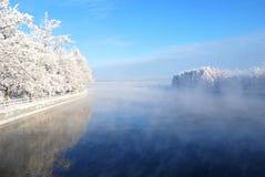 Mist over Vuoksi Stock Afbeelding