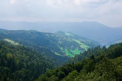 Mist på berg Royaltyfria Bilder