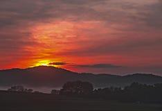 Mist på soluppgång Royaltyfri Fotografi