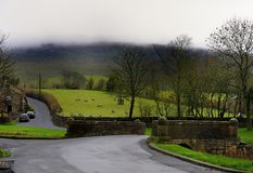 Mist of Pendle Hill Stock Image