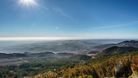 Mist in the plain. Wide angle time lapse of mist in the plain, 4K stock video footage