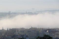 Mist in Prague Royalty Free Stock Photos