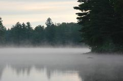 Mist rising from a lake Royalty Free Stock Image