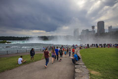 Mist rising over the Niagara falls, NY, USA Stock Images