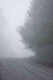 Mist road on the mountain of Thailand Royalty Free Stock Photo