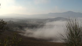 Mist rolling in over Italian landscape Royalty Free Stock Photography