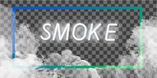 Mist of rook transparant speciaal effect Witte troebelheid, mist of smogachtergrond Vector illustratie royalty-vrije illustratie
