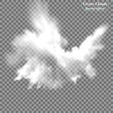 Mist of rook transparant speciaal effect Witte vectortroebelheid, mist of smogachtergrond Vector illustratie Royalty-vrije Stock Fotografie