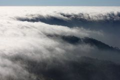 Mist sea of fog and the mountain Royalty Free Stock Images