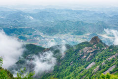 The mist shrouded mountains-Lingshan Shangrao Stock Image
