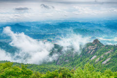 The mist shrouded mountains-Lingshan Shangrao Stock Images