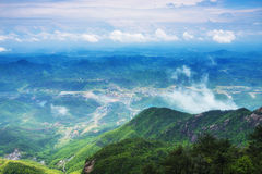 The mist shrouded mountains-Lingshan Shangrao Royalty Free Stock Photography