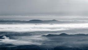 Mist at Tropical Mountain Range Stock Photos