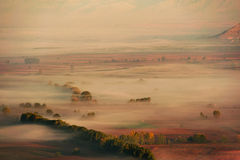 Mist in the valley Royalty Free Stock Images