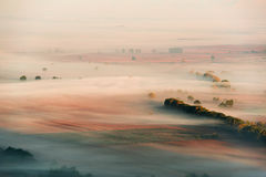 Mist in the valley Stock Image