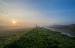 Mist 3 van de ochtendrivier Stock Afbeelding