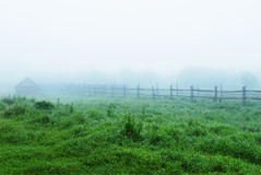 Mist in village Stock Photos