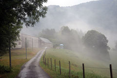 Mist in village Royalty Free Stock Image