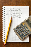 Mistake in the calculations Royalty Free Stock Photography