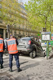 Mistake of driver in Paris Stock Images