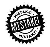 Mistake rubber stamp. Grunge design with dust scratches. Effects can be easily removed for a clean, crisp look. Color is easily changed Royalty Free Stock Photos