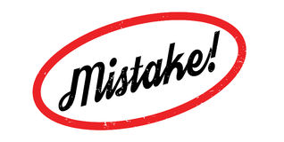 Mistake rubber stamp. Grunge design with dust scratches. Effects can be easily removed for a clean, crisp look. Color is easily changed Stock Image