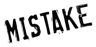 Mistake rubber stamp Stock Photos