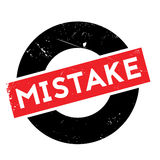 Mistake rubber stamp Royalty Free Stock Photos