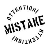 Mistake rubber stamp Stock Photo