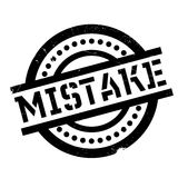 Mistake rubber stamp Royalty Free Stock Photography