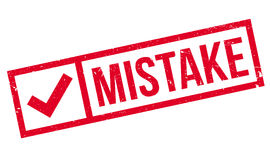 Mistake rubber stamp Stock Images