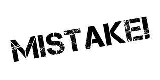 Mistake rubber stamp Stock Photography