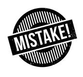 Mistake rubber stamp. Grunge design with dust scratches. Effects can be easily removed for a clean, crisp look. Color is easily changed Stock Images