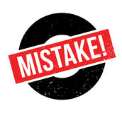 Mistake rubber stamp. Grunge design with dust scratches. Effects can be easily removed for a clean, crisp look. Color is easily changed Stock Photos