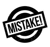 Mistake rubber stamp. Grunge design with dust scratches. Effects can be easily removed for a clean, crisp look. Color is easily changed Royalty Free Stock Photo