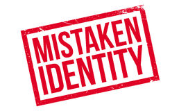 Mistaken Identity rubber stamp Stock Photography