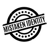 Mistaken Identity rubber stamp Royalty Free Stock Images