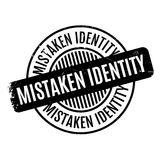 Mistaken Identity rubber stamp Stock Images