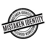 Mistaken Identity rubber stamp Royalty Free Stock Photo