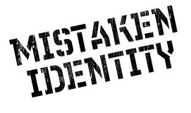 Mistaken Identity rubber stamp Royalty Free Stock Image