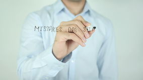 Mistakes are Stepping Stones to Success, Writing on Screen stock footage