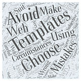 Mistakes To Avoid When Using Web Templates word cloud concept Royalty Free Stock Photography