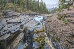 Mistaya Canyon, Alberta, Canada Stock Photo