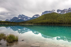 Mistaya Lake- Banff National Park- Alberta- Canada. This magnificent lake is a photographers' dream Royalty Free Stock Images
