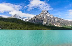 Mistaya lake in Banff National Park. Alberta, Canada Royalty Free Stock Photography