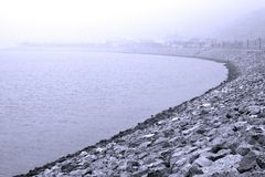 Misted Coast Royalty Free Stock Images