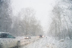 Misted glass in car Stock Photo