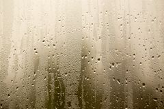 Misted glass on the window as a background Royalty Free Stock Photo