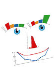 Mister Chart. Smiley face designed with graphics chart vector illustration